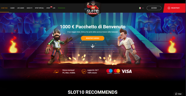 Slot10 Italia - bookmaker e casinò