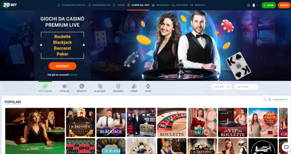 20bet casino live